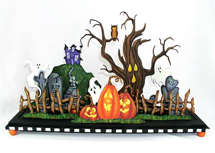 Haunted Hollow Centerpiece - E-Packet - Jeanne Bobish