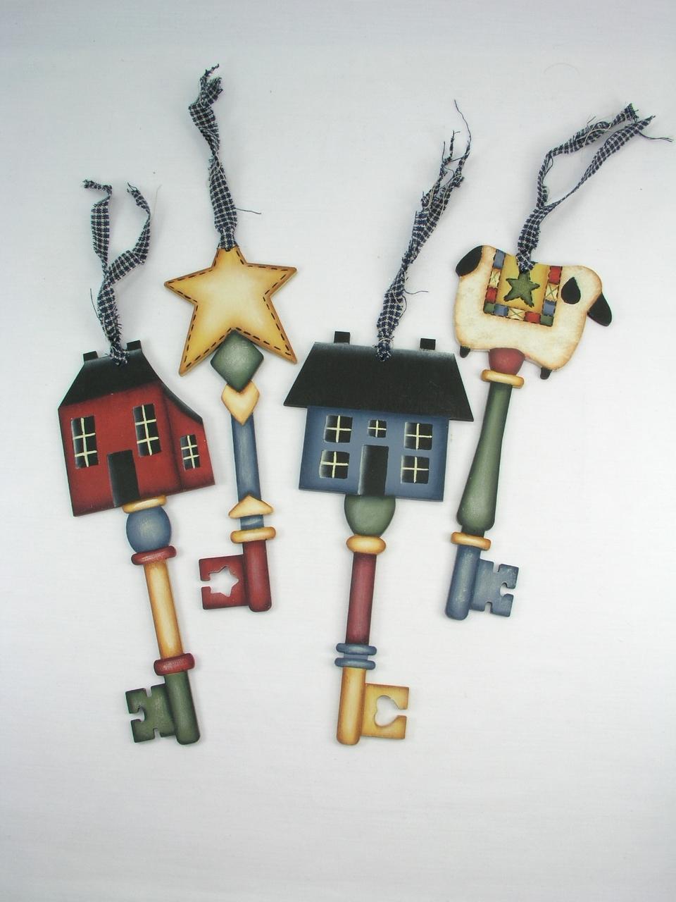 Country Key Ornaments - E-Packet - Jeanne Bobish