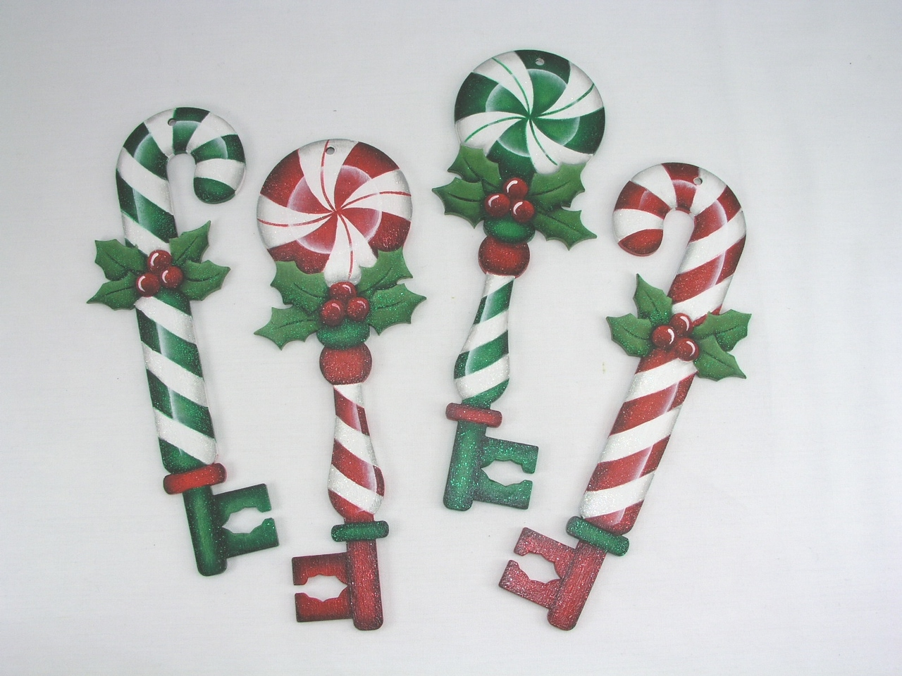 Peppermint Key Ornaments - E-Packet - Jeanne Bobish