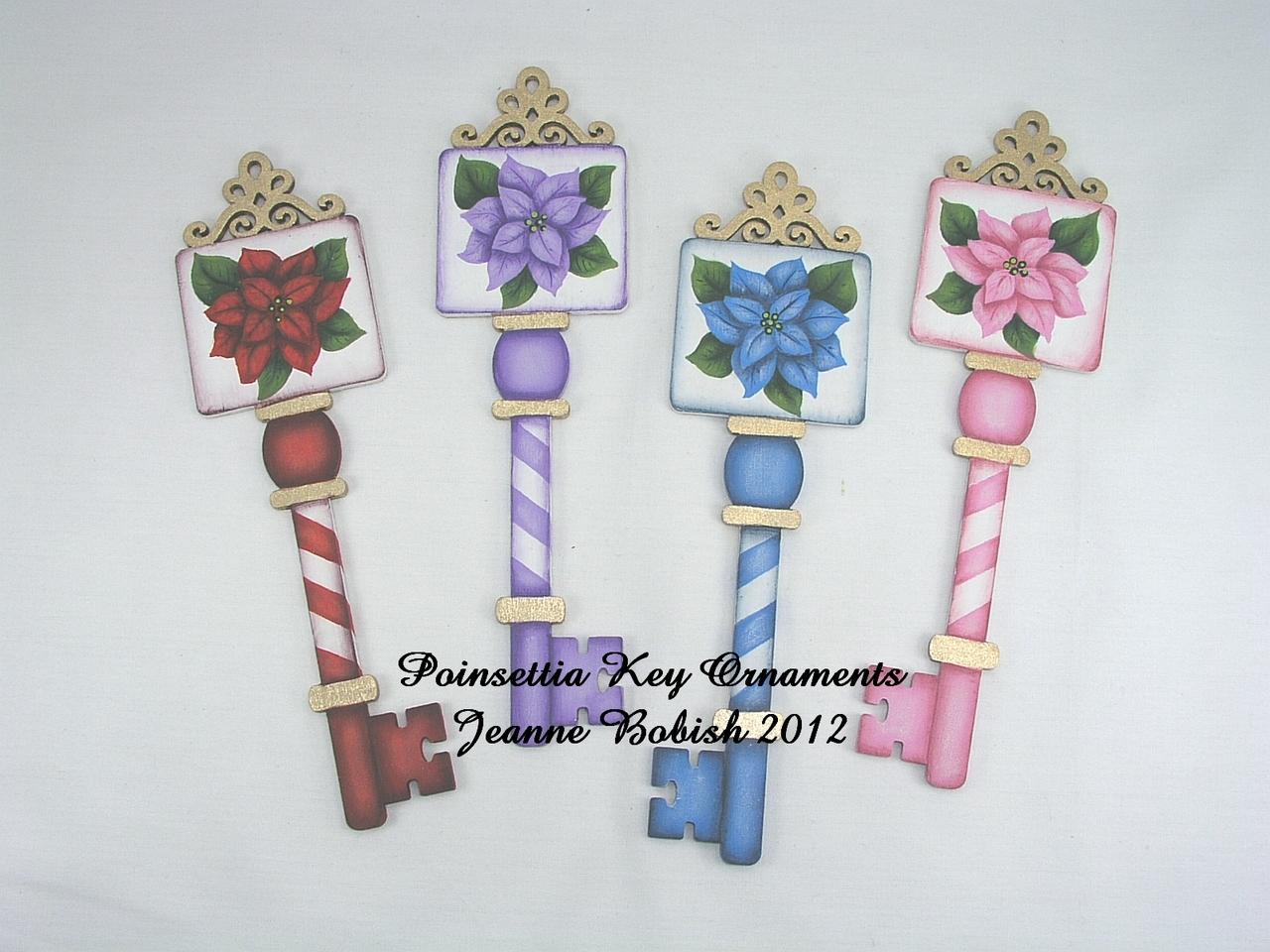 Poinsettia Key Ornaments - E-Packet - Jeanne Bobish