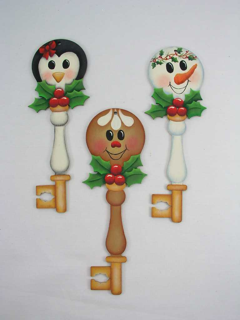 Holly Honeys Key Ornaments - E-Packet - Jeanne Bobish