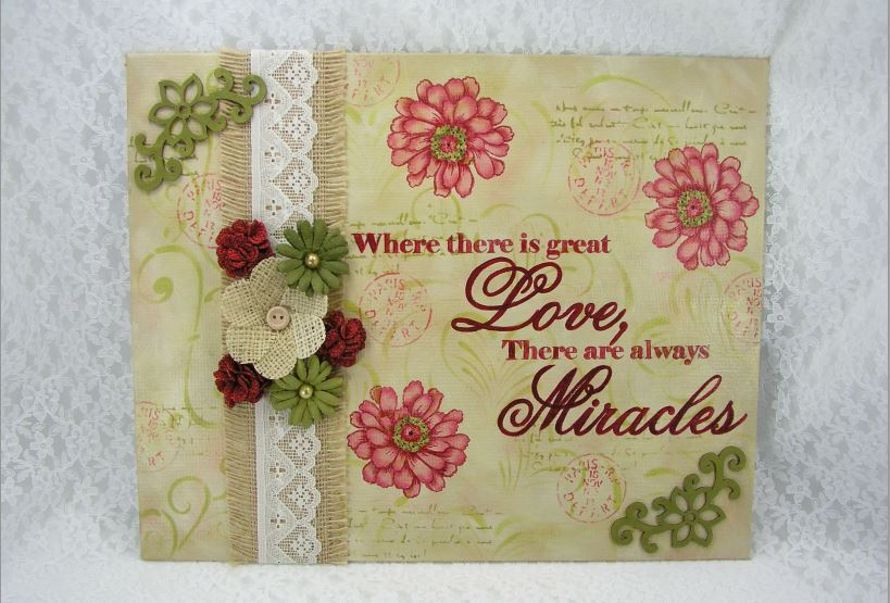 Love and Miracles Canvas DVD & Pattern Packet - Jeanne Bobish