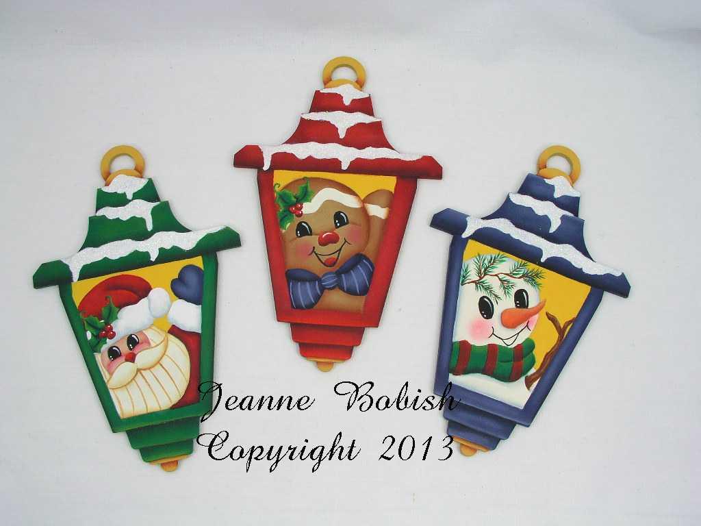 Snowy Lantern Trio - E-Packet - Jeanne Bobish