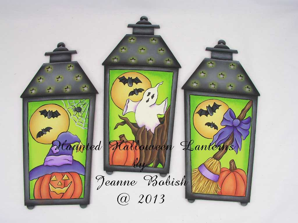 Haunted Halloween Lanterns - E-Packet - Jeanne Bobish