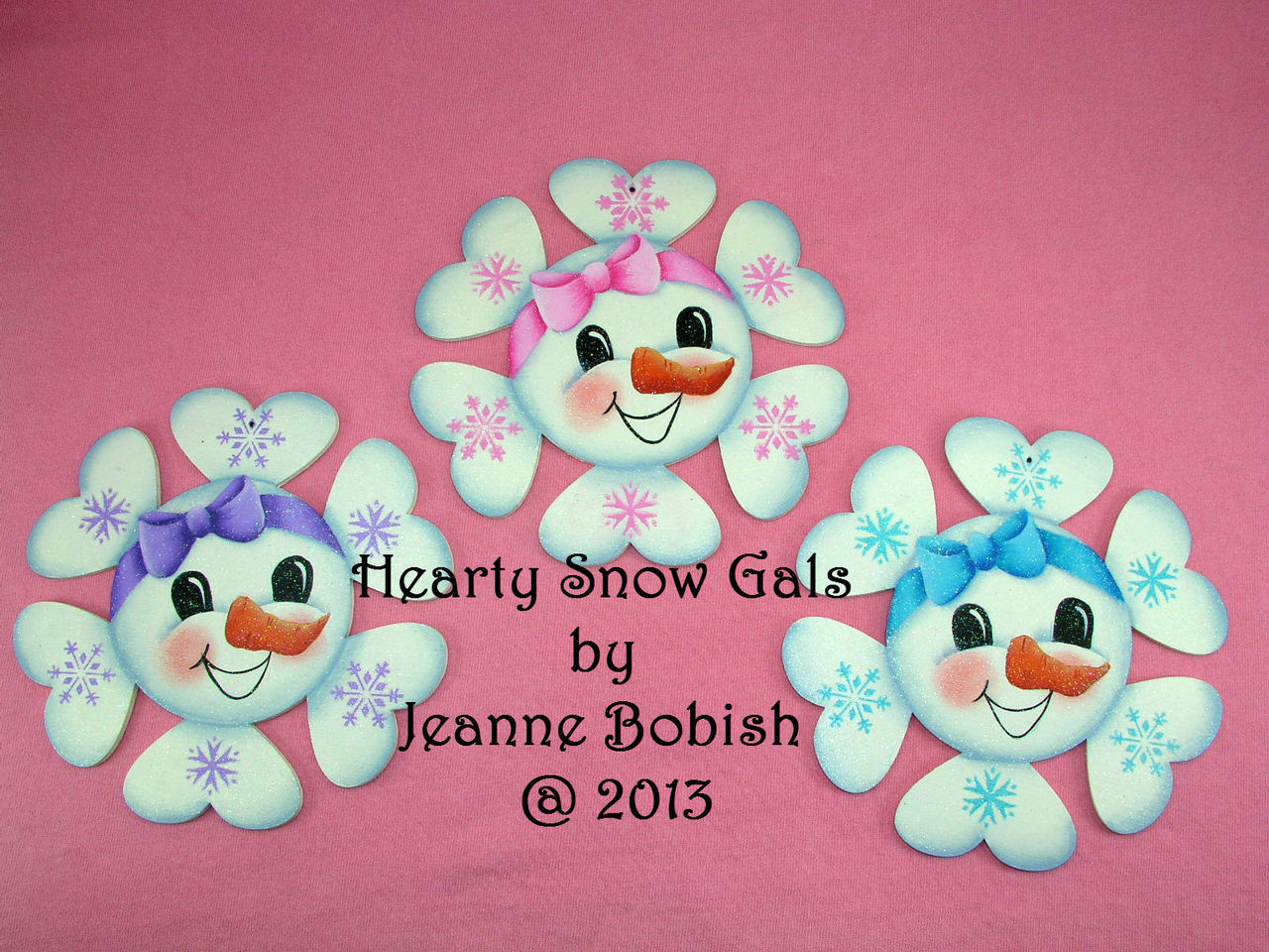 Hearty Snow Girl Ornaments - E-Packet - Jeanne Bobish