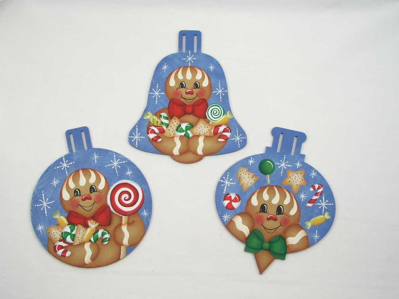 Sugarplum Ginger Ornaments - E-Packet - Jeanne Bobish