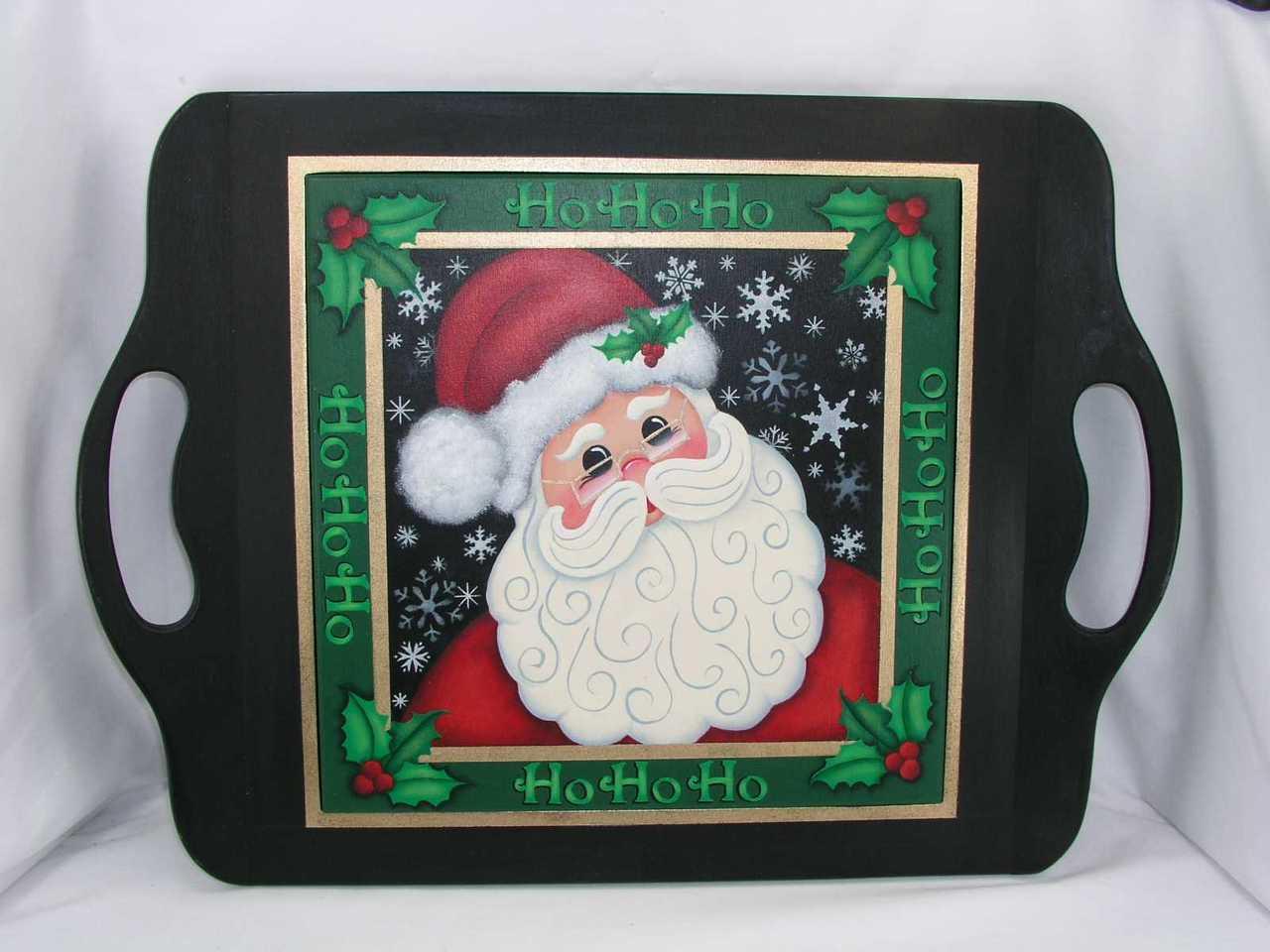 Ho Ho Ho Santa Tray - E-Packets - Jeanne Bobish