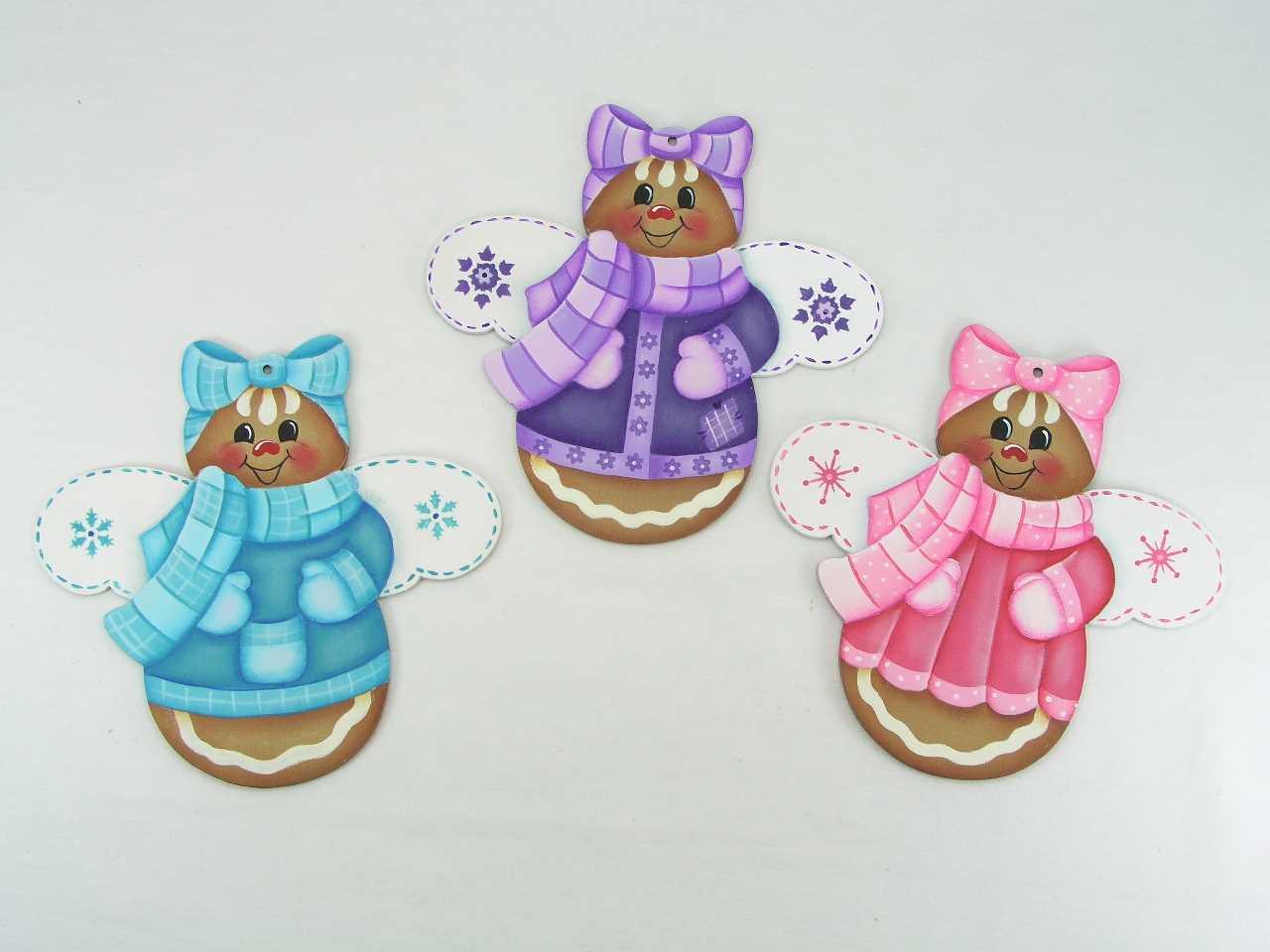 Winter Ginger Angel Ornaments - E-Packet - Jeanne Bobish