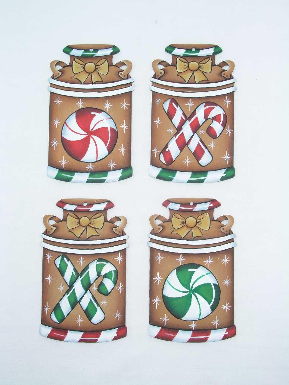 Peppermint Milk Can Ornaments - E-Packet - Jeanne Bobish