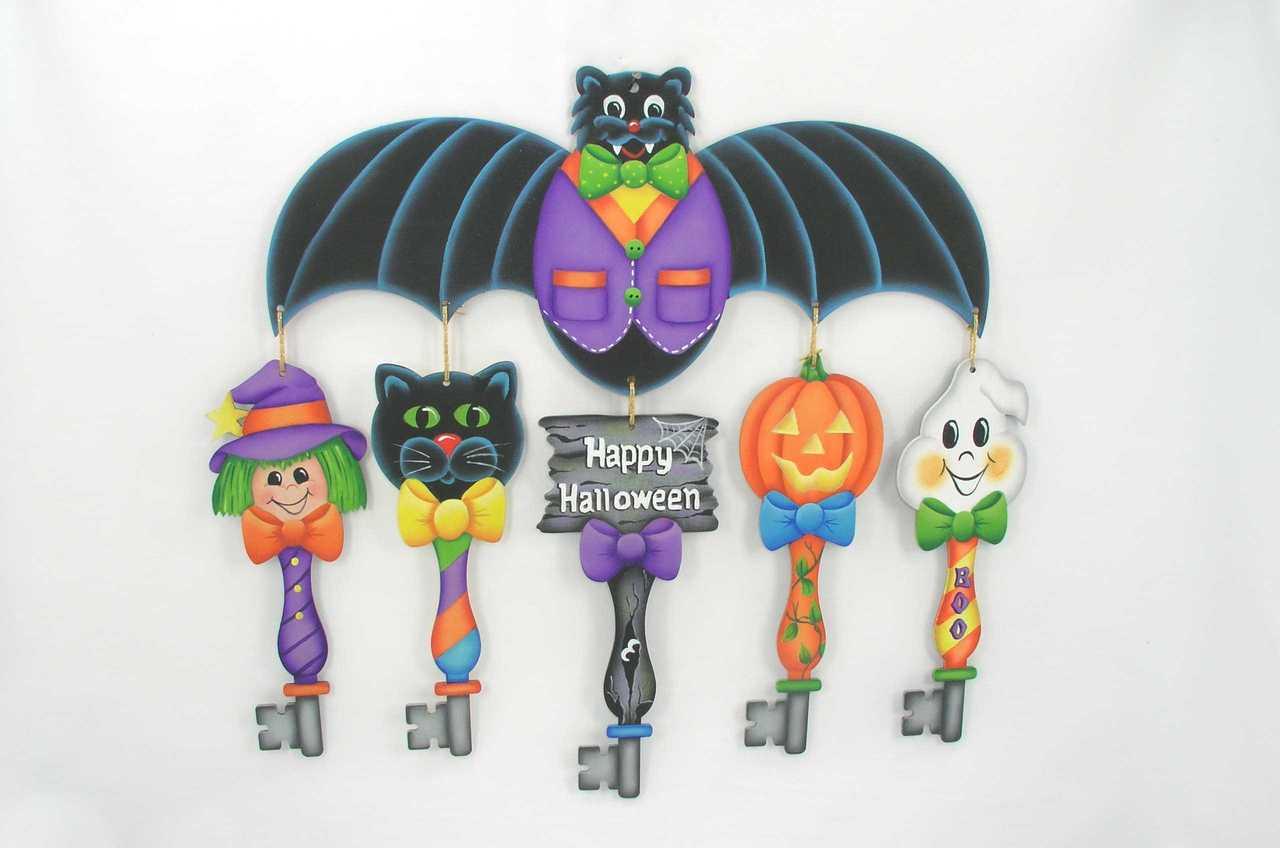 Halloween Keys with Bat Topper - E-Packet - Jeanne Bobish
