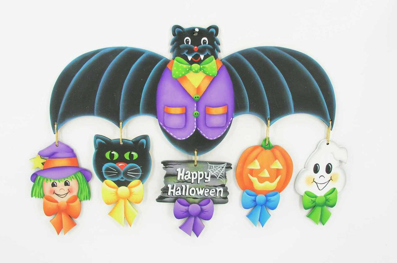Halloween Ornaments with Bat Topper - E-Packet - Jeanne Bobish