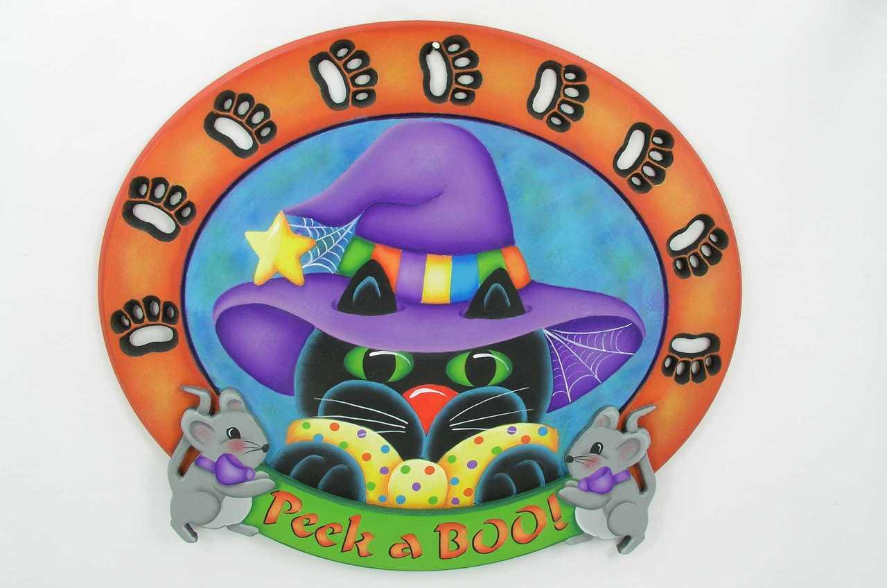 Peek a Boo Kitty Plaque - E-Packet - Jeanne Bobish