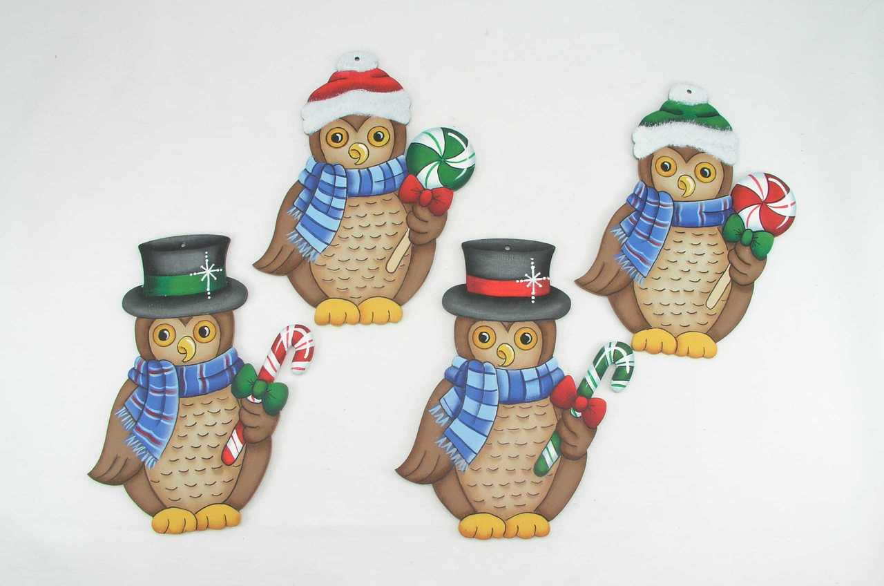Peppermint Owl Ornaments - E-Packet - Jeanne Bobish
