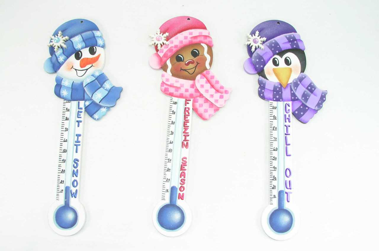 Chilly Chums Thermometer Ornaments - E-Packet - Jeanne Bobish