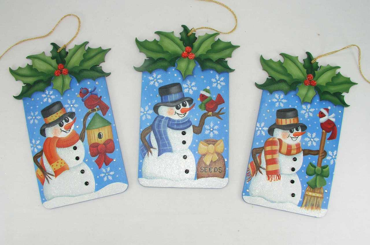 Frosty Holly Ornaments - E-Packet - Jeanne Bobish