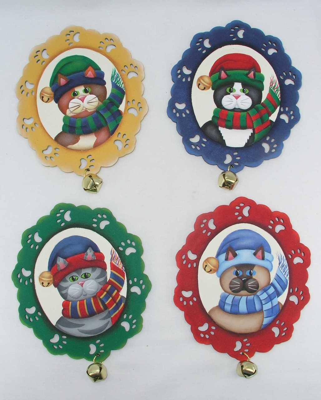 Jingle Cat Ornaments - E-Packet - Jeanne Bobish