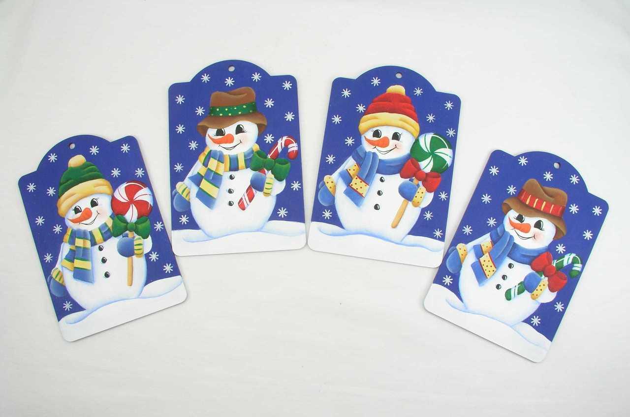 Peppermint Snowmen Ornaments - E-Packet - Jeanne Bobish