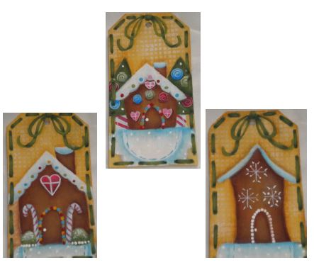 Gingerbread Houses Ornaments - E-Packet - Ann Perz