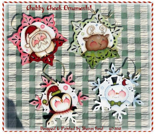 Chubby Cheeks Ornaments! - E-Packet - Sharon Bond