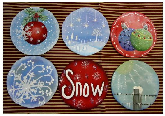 Six Winter Round Ornaments - E-Packet - Betty Bowers