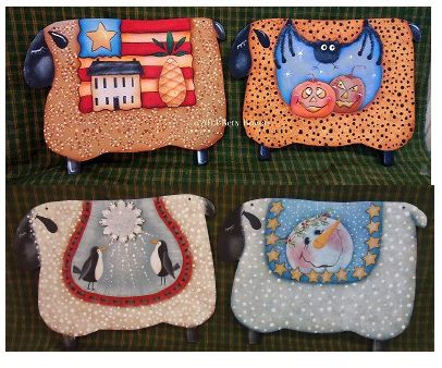 Four Seasonal Sheep - E-Packet - Betty Bowers