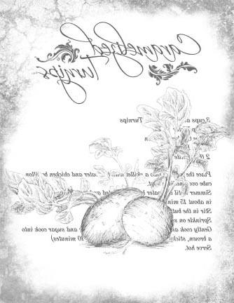 Caramelized Turnips Recipe - B&W Aged 8x10- Image Transfers