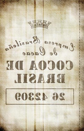 Burlap-Brazil Cocoa Transfer Paper - Antique 10x16