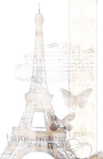 Bon Voyage Transfer Paper - B & W 10x16