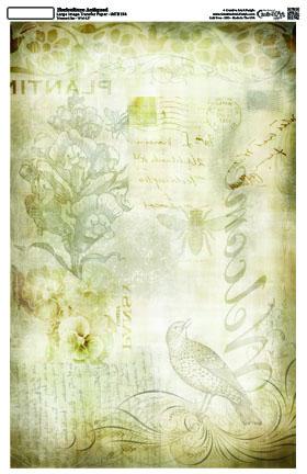Floriculture-Antiqued 16x10 -Image Transfer