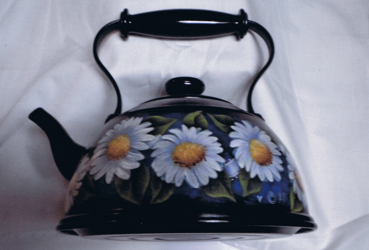 Daisies and Ribbon Tea Pot - E-Packet - Ann Perz