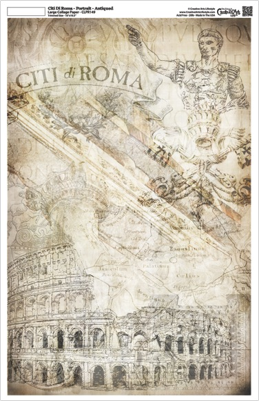 "Citi di Roma Collage Paper - Portrait - Antique - 10.5"" x 16"""