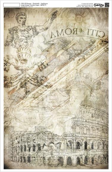 """Citi di Roma Image Transfer Paper -  Portrait - Antique - 10.5"""" x 16"""""""