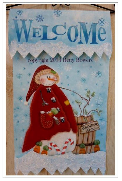 Welcome Snow Banner - Betty Bowers