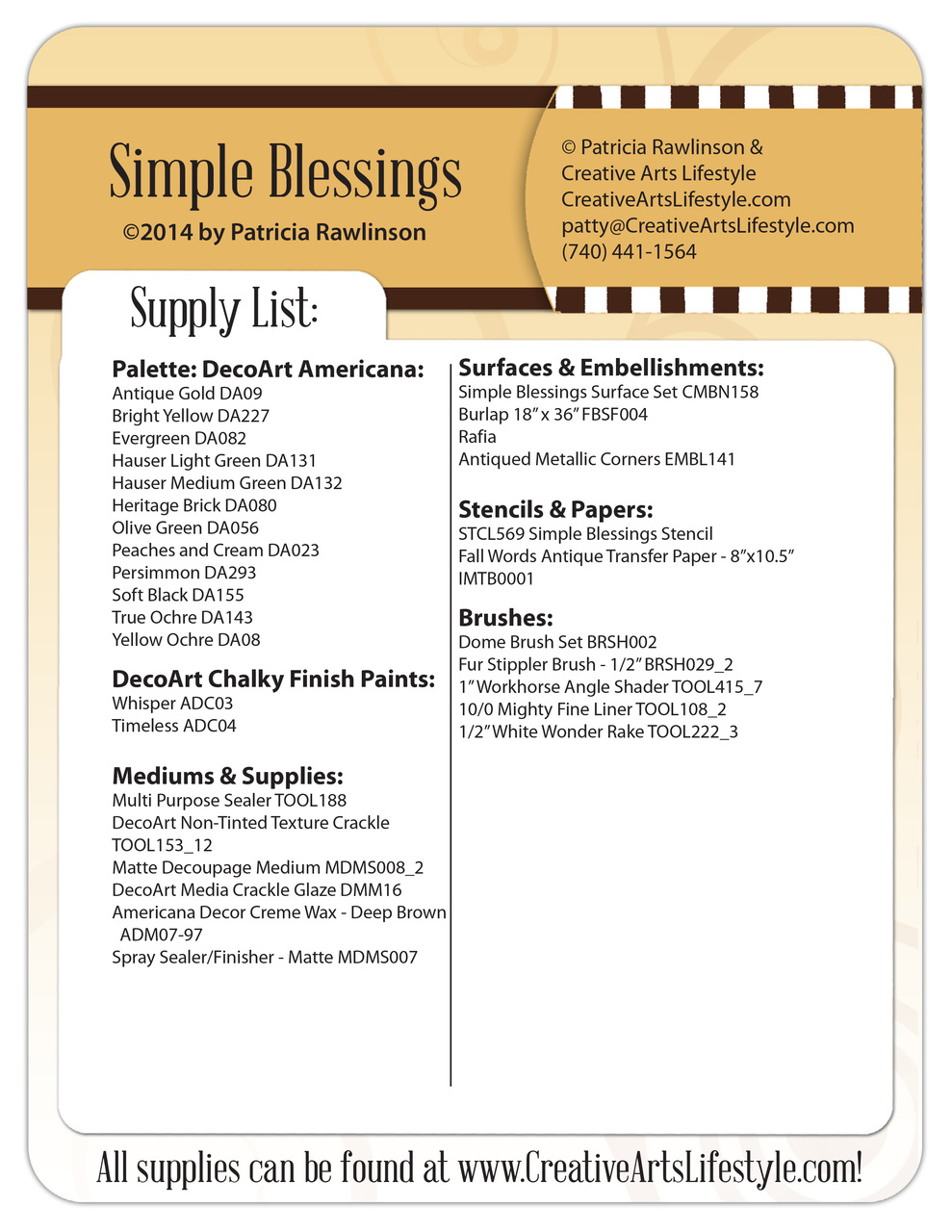 Simple Blessings E-Packet - Patricia Rawlinson
