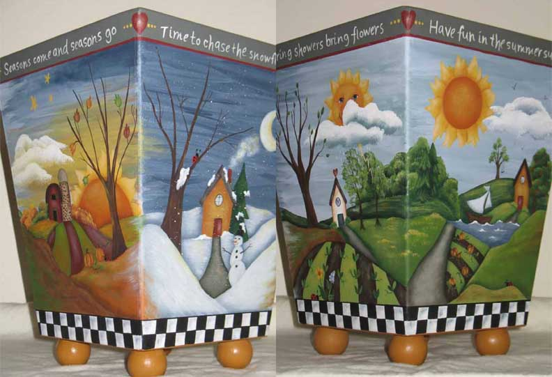 Four Season Waste Basket - E-Packet - Beverly Maitland