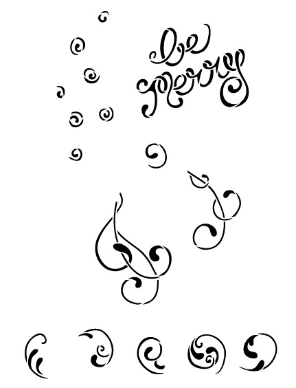 Be Merry Chalk Stencil