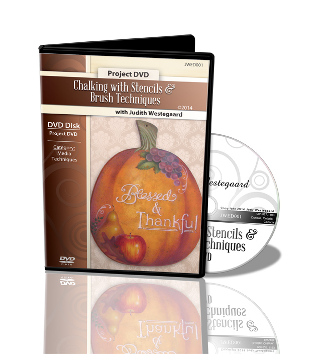 Chalking with Stencils & Brush Techniques DVD - Judith Westegaard