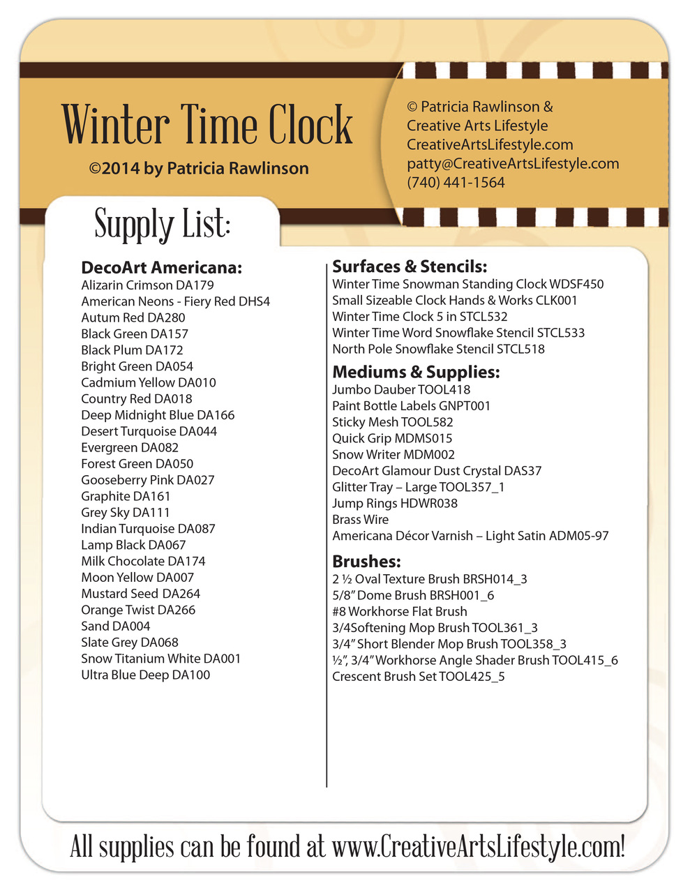 Winter Time Snowman Standing Clock E-Packet - Patricia Rawlinson