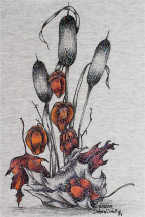 Autumn Bouquet Fabric Painting - E-Packet - Debra Welty