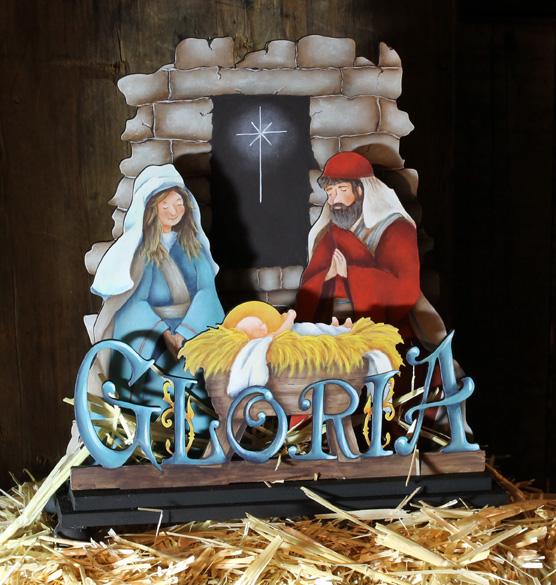 Gloria Nativity Scene - E-Packet - Mary Jo Gross