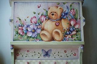 Teddy Bear Cabinet - E-Packet - Juanita Denton