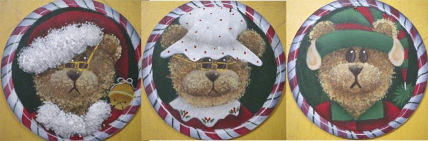 Santa Bear, Mrs. Santa Bear, and Elf Bear - E-Packet - Ann Perz
