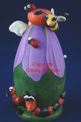 """Spring """"Bee""""uty Ornament and Sculptural Wood Centerpiece - E-Packet - Christy Hartman"""
