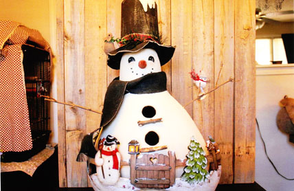 Snowman Bird House - E-Packet - Sue Hollon-Taber