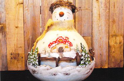 Mushroom Snowman - E-Packet - Sue Hollon-Taber