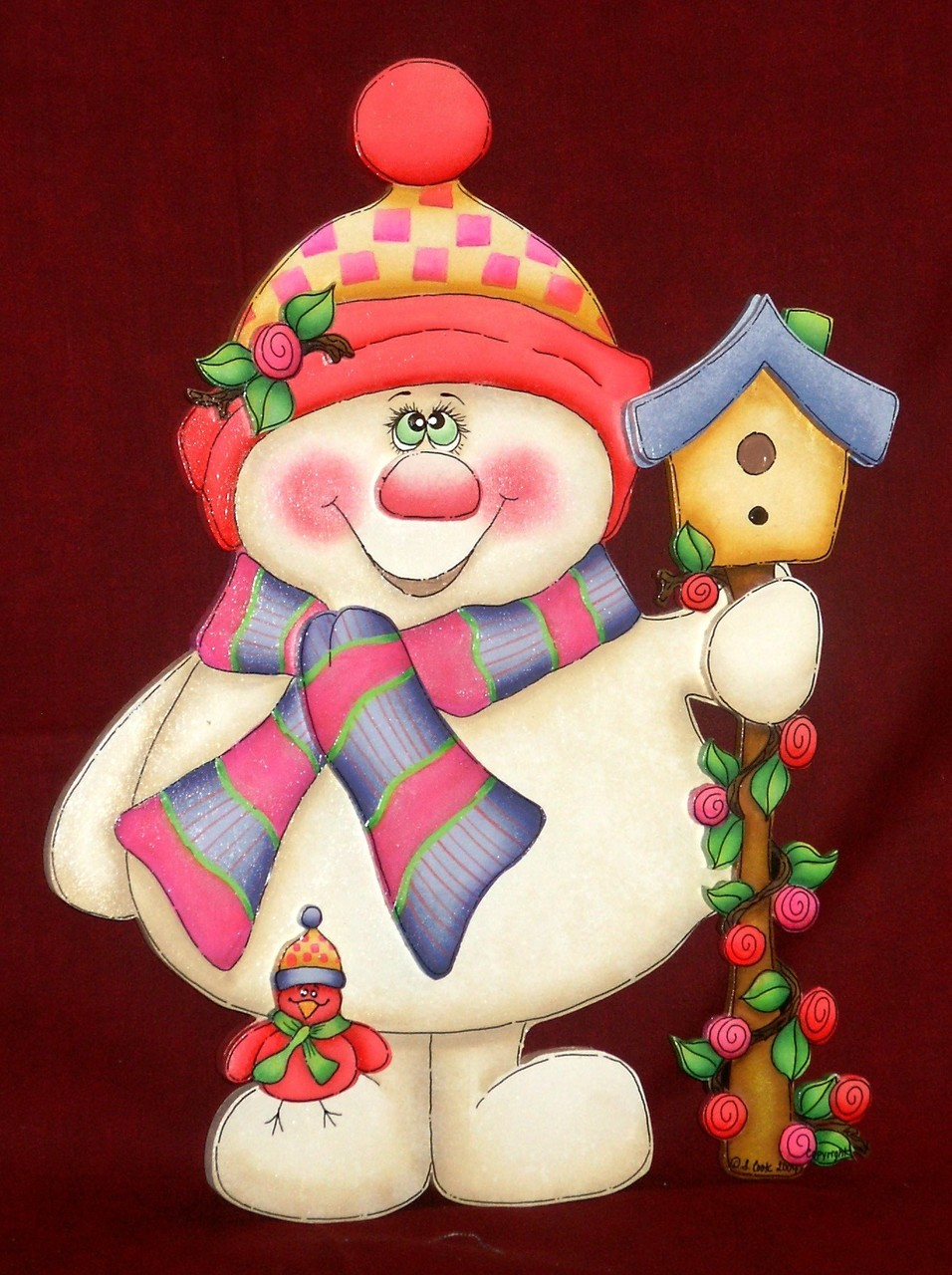 Springtime Snowman - E-Packet - Sharon Cook