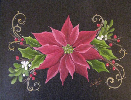 Holiday Poinsettia in Oils - E-Packet - Sandy McTier