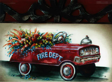 Truck N' Flowers - E-Packet - Debbie Cotton