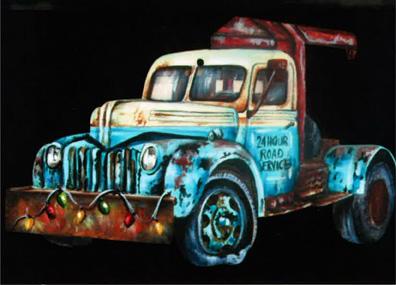 Tow Truck Ornament - E-Packet - Debbie Cotton