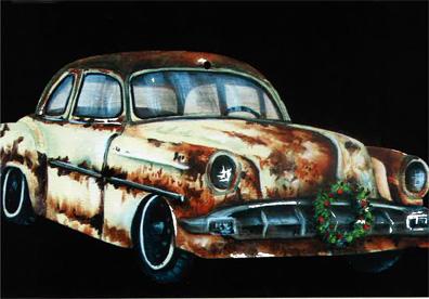 Earl's Christmas Car Ornament - E-Packet - Debbie Cotton